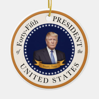 Ornamento De Cerâmica Donald Trump - 45th Presidente dos Estados Unidos
