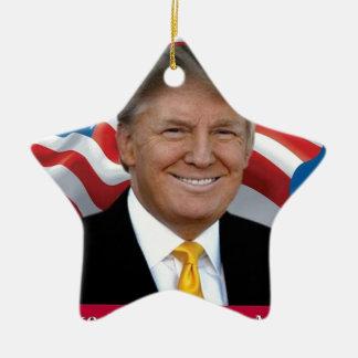 Ornamento De Cerâmica Donald Trump faz o excelente de América outra vez