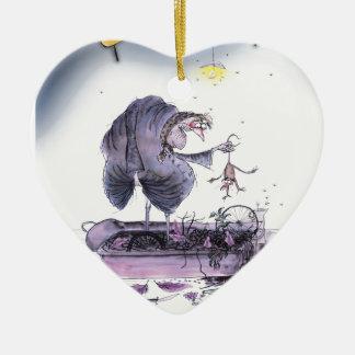 Ornamento De Cerâmica doninha das mães do ol de yorkshire do amor