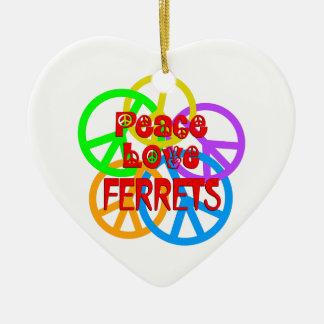 Ornamento De Cerâmica Doninhas do amor da paz