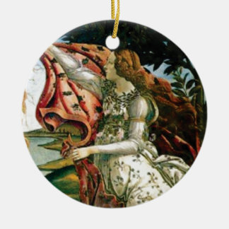 Ornamento De Cerâmica donzela na lavanderia do vestido