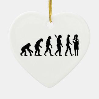 Ornamento De Cerâmica Doutor da fêmea da evolução
