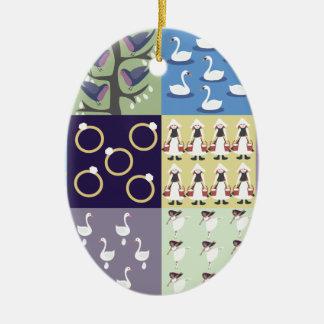 Ornamento De Cerâmica Doze dias do Natal