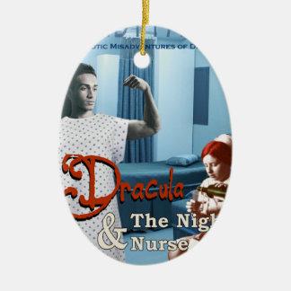 Ornamento De Cerâmica Dracula e a enfermeira de noite