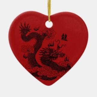 Ornamento De Cerâmica Dragão chinês
