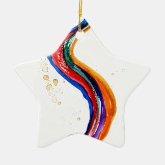 Ornamento De Cerâmica Dragão do arco-íris