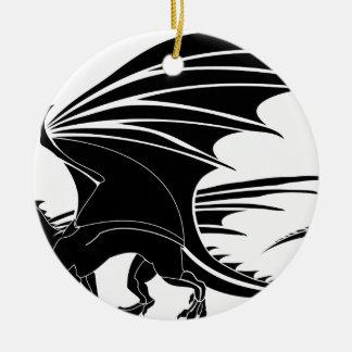 Ornamento De Cerâmica Dragão irritado