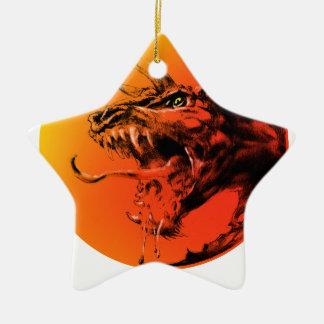Ornamento De Cerâmica Dragão mau