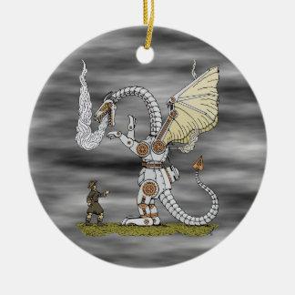 Ornamento De Cerâmica Dragão mecânico