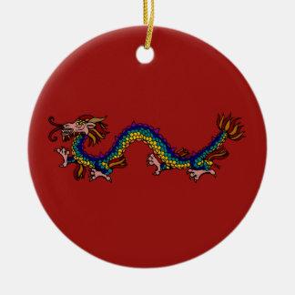Ornamento De Cerâmica Dragão oriental