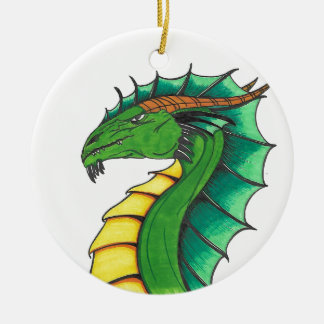 Ornamento De Cerâmica Dragão tirado mão