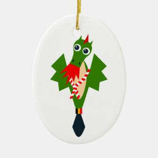 Ornamento De Cerâmica Dragão verde da cidade Mons, Bélgica