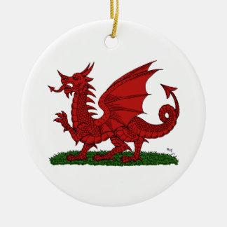 Ornamento De Cerâmica Dragão vermelho de Wales