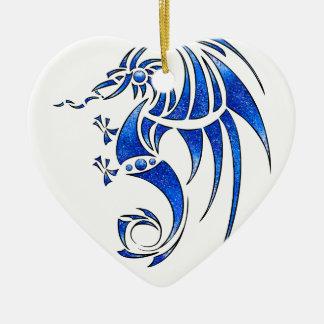 Ornamento De Cerâmica Dragissous V1 - dragão azul