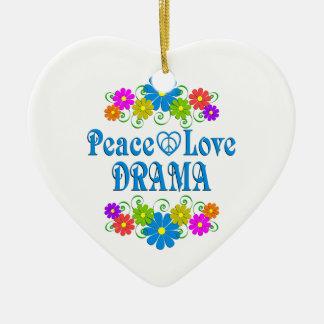 Ornamento De Cerâmica Drama do amor da paz