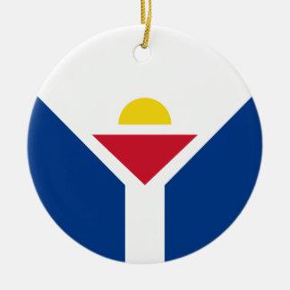 Ornamento De Cerâmica Drapeau de St Martin - bandeira de St Martin