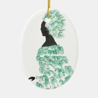 Ornamento De Cerâmica Dríade do pinho