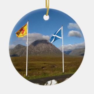 Ornamento De Cerâmica duas bandeiras de Scotland