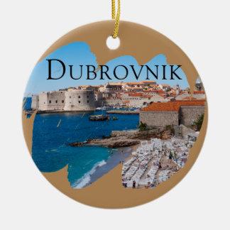 Ornamento De Cerâmica Dubrovnik com uma vista