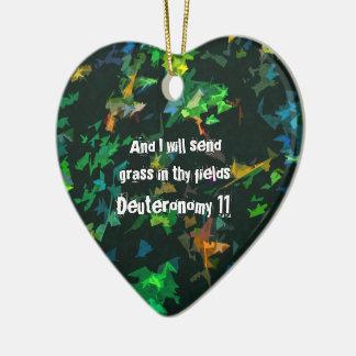 Ornamento De Cerâmica E eu enviarei a grama em thy campos