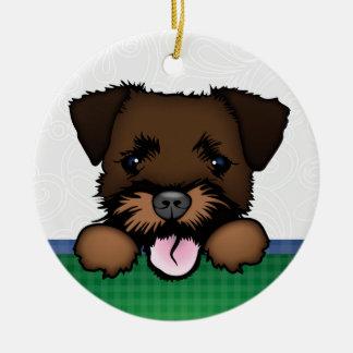 Ornamento De Cerâmica E seu cão pequeno demasiado!  Dorothy