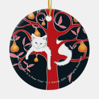 Ornamento De Cerâmica E um persa em uma árvore de pera…