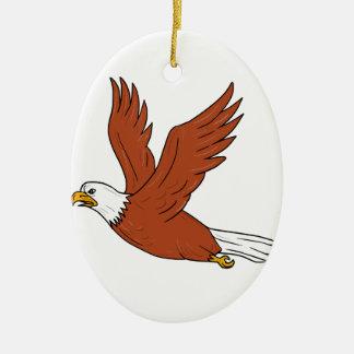 Ornamento De Cerâmica Eagle irritado que voa desenhos animados