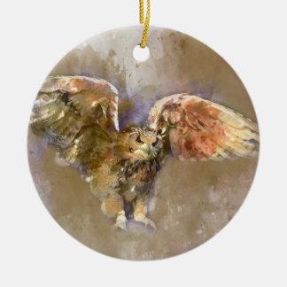Ornamento De Cerâmica Eagle na aguarela
