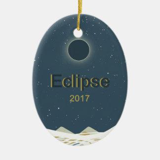Ornamento De Cerâmica Eclipse 2017 solar total