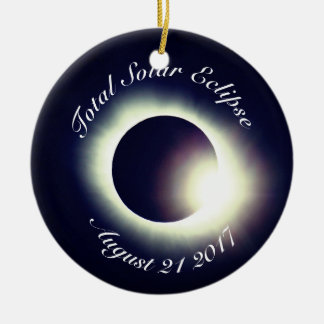 Ornamento De Cerâmica Eclipse solar total 2017