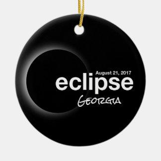 Ornamento De Cerâmica Eclipse solar total 2017 - Geórgia