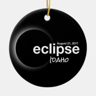 Ornamento De Cerâmica Eclipse solar total 2017 - Idaho