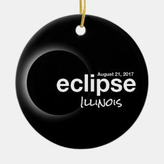 Ornamento De Cerâmica Eclipse solar total 2017 - Illinois