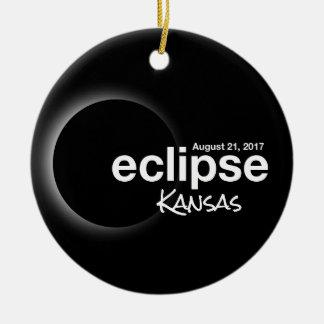 Ornamento De Cerâmica Eclipse solar total 2017 - Kansas