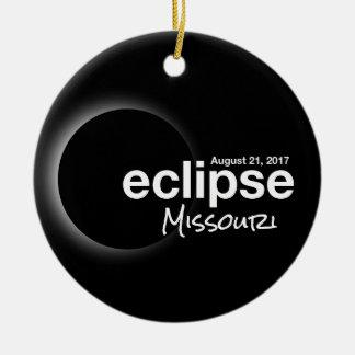 Ornamento De Cerâmica Eclipse solar total 2017 - Missouri