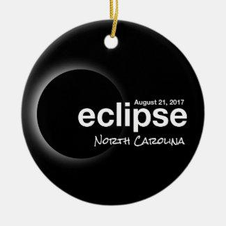 Ornamento De Cerâmica Eclipse solar total 2017 - North Carolina