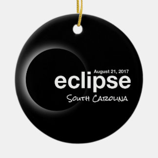Ornamento De Cerâmica Eclipse solar total 2017 - South Carolina
