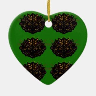 Ornamento De Cerâmica Eco do preto do verde dos elementos do design