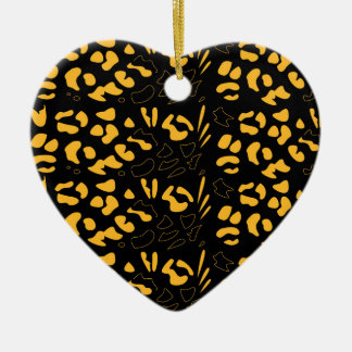Ornamento De Cerâmica Eco do teste padrão do tigre