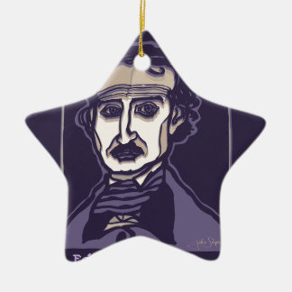 Ornamento De Cerâmica Edgar Allan Poe por FacePrints