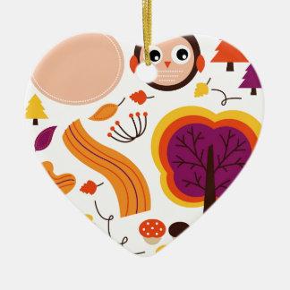 Ornamento De Cerâmica Edição do outono dos miúdos: Design de produto