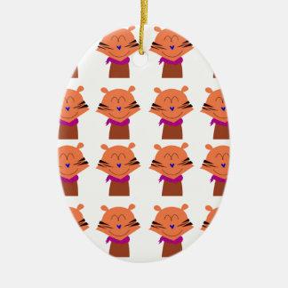 Ornamento De Cerâmica Edição dos miúdos das raposas dos elementos do
