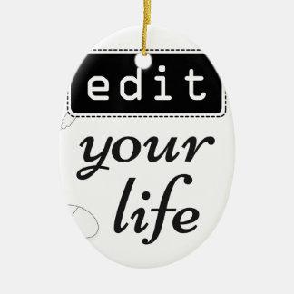Ornamento De Cerâmica Edite sua vida