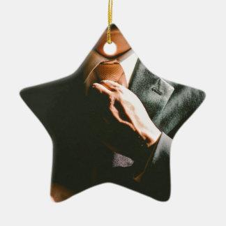 Ornamento De Cerâmica Efeito de sombra do laço do homem de negócios do
