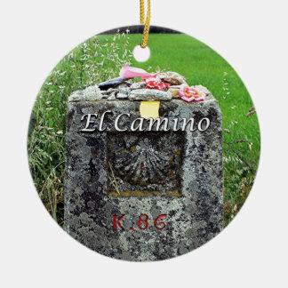 Ornamento De Cerâmica EL Camino: Marcador 86 quilômetros, espanha