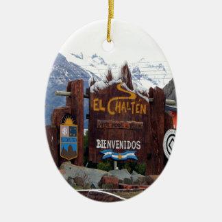 Ornamento De Cerâmica EL Chalten, Patagonia, Argentina