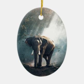 Ornamento De Cerâmica elefante