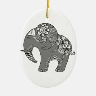 Ornamento De Cerâmica Elefante 4