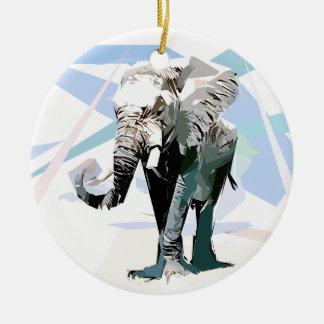 Ornamento De Cerâmica Elefante da África