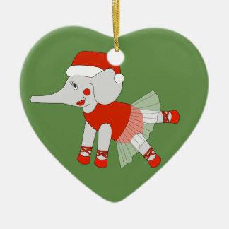 Ornamento De Cerâmica Elefante da bailarina - Special do Natal